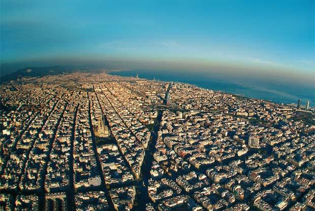 Foto aérea del Eixample de Barcelona