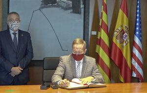 El cònsol general dels Estats Units visita la seu del Consorci de la Zona Franca de Barcelona