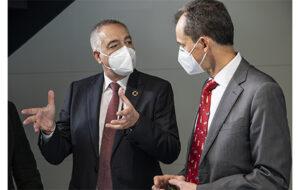 El ministre de Ciència i Innovació visita les futures instal·lacions del DFactory BCN a la Zona Franca de Barcelona